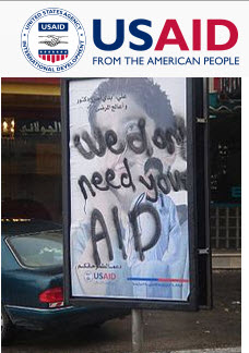 usaid we dont need your aid graffiti