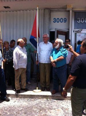 Acto en la Alianza Martiana en Miami por la apertura de las EMBAJADA