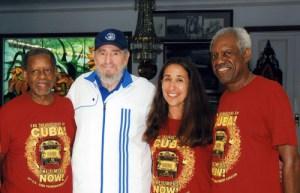 Fidel junto a miembros de Pastores por la paz